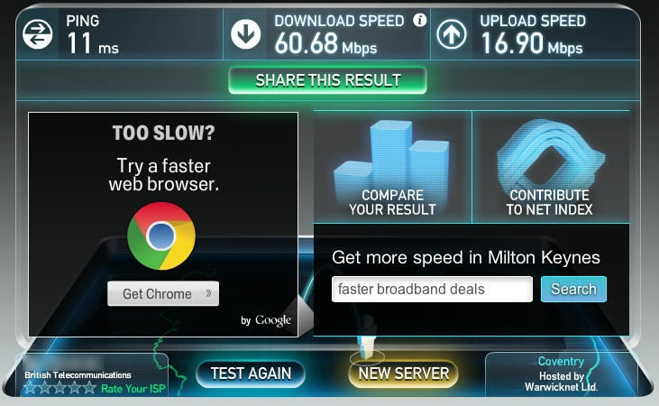BT Infinity Speed