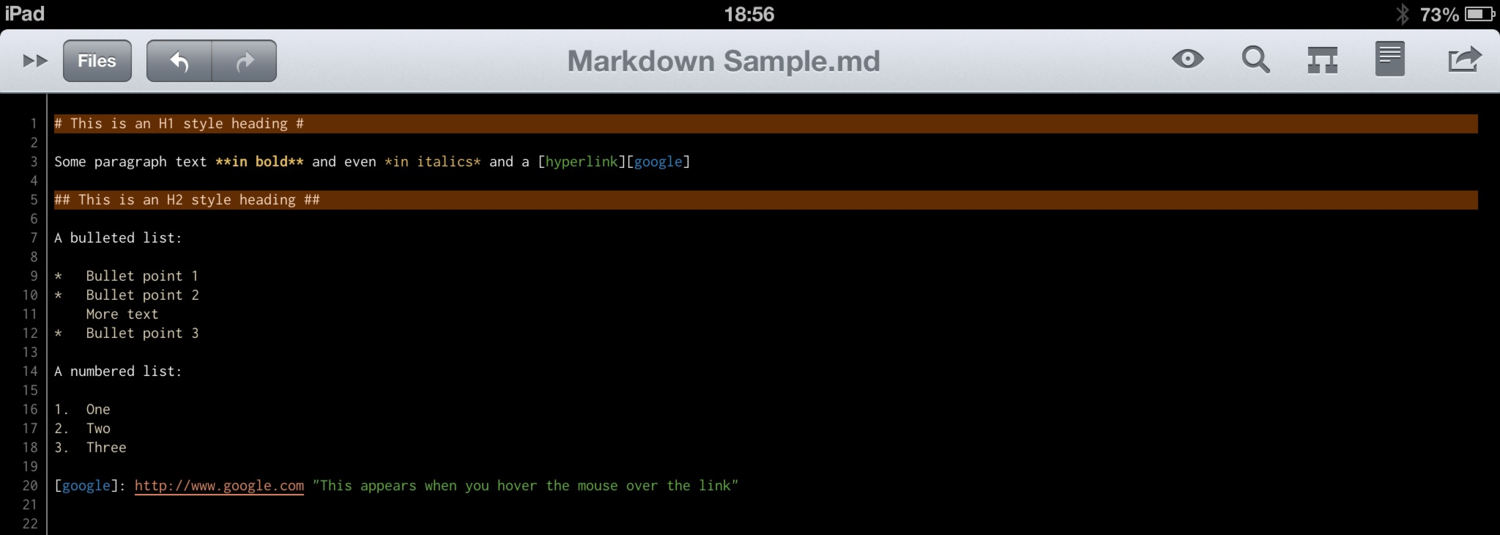 Markdown Sample